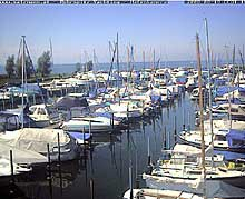 A Bregenz webcam that shows the port of Vorarlberg's capital
