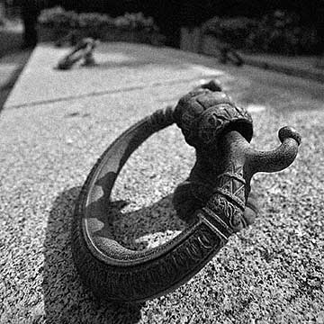 The handle for a tomb on the cemetery of Hietzing, one of Vienna's most elegant cemeteries.