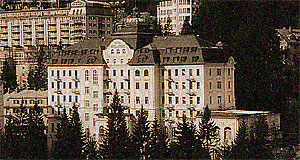The Grand Hotel of Bad Gastein in Salzburg, around 1900