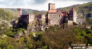 The castle of Hardegg in Lower Austria - sightseeing among rural scenery
