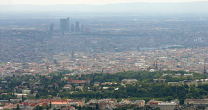 The Hohe Warte Area in the foreground with the rest of Vienna in the background