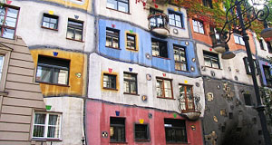 This is acutally the Hundertwasserhaus in Vienna, but I lacked an illustration for this article