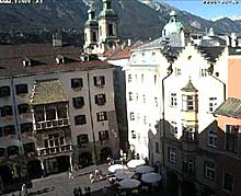 Innsbruck webcam that shows the city center of Tyrol's capital
