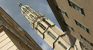 Maria am Gestade, a Gothic church in Vienna widely neglected by tourists. Sadly so.