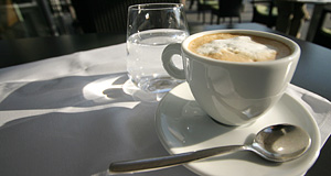 The Melange is typical for Vienna's coffee culture - here served in Hietzing
