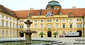 Melk, as we know it: The Abbey. In fact, there is a town around it, too.