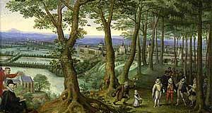 Schloss Neugebäde in a contemporary painting, which is mentioned in the article
