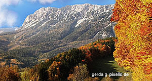 The Rax in autumn - one of Lower Austria′s most famous mountains