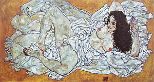 Egon Schiele worked on expressive, often very sexual motives - typical for the Wiener Moderne, which was fuelled by psychoanalysis.