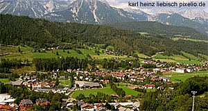 View on the Styrian town of Schladming - famous for hiking and skiing alike