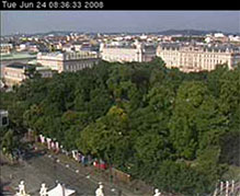 Vienna Webcam: View on the Hofburg Palace