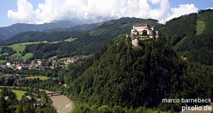 The fortress of Werfen - one of two major attractions in this town