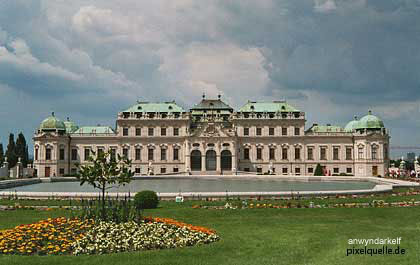 Belvedere Palace was built in the heart of Vienna for Prince Eugene
