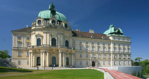 Klosterneuburg just north of Vienna was modelled after the Escorial in Madrid