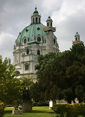 The Karlskirche church from outside
