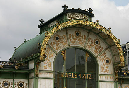 Art Nouveau (Jugendstil) booth on Karlsplatz Square