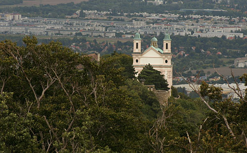 The church of Leopoldsberg north of Vienna
