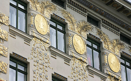 The Wienzeilenhaus (Art Nouveau or Jugendstil) by Otto Wagner